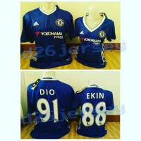 Jersey COUPLE Chelsea home 2016 / 2017 OFFICIAL + Cetak nama font EPL