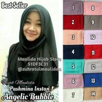 Jual Pashmina Instan Angelic Diamond Cerutti Bubble / Hijab Jilbab Khimar Murah