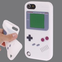 SS4807 - GAMEBOY SILICONE CASE IPOD TOUCH 5 / 6 WHITE
