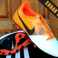 Sepatu Bola Nike Lunar Gato II Putih Orange Obral Murah Grosir