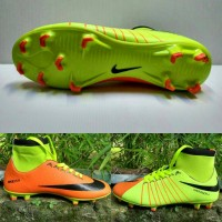 Sepatu Bola Nike Hypervenom Superfly Stabilo-Oren list Hitam Grade Ori