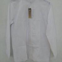 baju koko lengan panjang dewasa warna putih