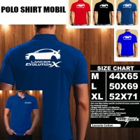 Polo Shirt Otomotif Mobil MITSUBISHI LANCER EVOLUTION X SILUET TS/Kaos