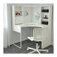 Jual IKEA MICKE Meja Kerja Sudut/ Meja Komputer/ Meja Belajar, Putih Murah