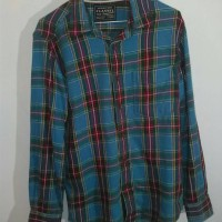 Jual FLANNEL Original Size XS Baju Hem Kemeja Lengan Panjang Outdoor 2nd Murah