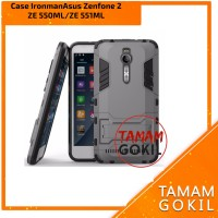 Case Ironman Asus Zenfone 2 ZE550ML / ZE551ML With Kick Stand