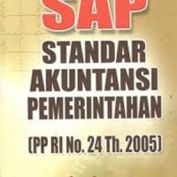 Buku SAP (Standar Akuntansi Pemerintahan) (PP RI No. 24 Tahun 2005)