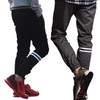 Celana Jogger Pants Strip Pria