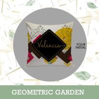 Bantal Nama Custom - Geometric Garden