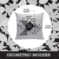 Bantal Nama Custom - Geometric Modern