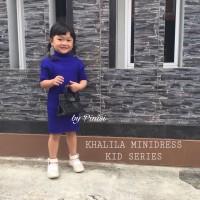 Mini Dress Rajut Anak 2-7th Baju anak Perempuan TK Atasan Polos Pesta
