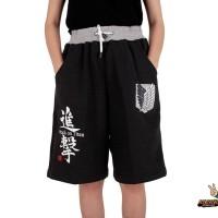 Jogger Pants Anime SNK Gray Short