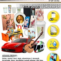 Kertas Water Slide Decal Paper Ukuran A3 170 Gram