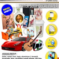 Water Slide Decal Paper White Ukuran A3 170 Gram