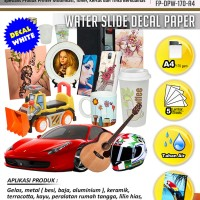 Kertas Water Slide Decal Paper White Ukuran A4 170 Gram