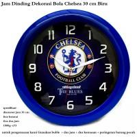 jam dinding dekorasi club bola chelsea 30 cm biru