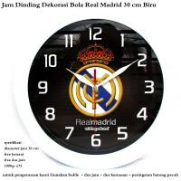 jam dinding dekorasi club bola real madrid 30 cm putih