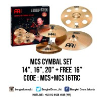 """Meinl Cymbal MCS Cymbal Set 14"""", 16"""", 20"""" + 16"""""""