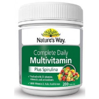 Nature's Way Complete Daily Multivitamin + Spirulina isi 200 kapsul