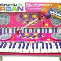 "Electronic Organ / Piano /mainan edukasi ""Keyboard + Mic dan Tiang Mic"