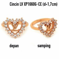 Aksesoris Wanita Cincin LV Cantik Perhiasan Lapis Emas Xuping XP1660G