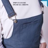 Pop Culture Overall Dress Dungaree Denim Jeans Pakaian Wanita DS914 SP