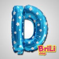 Balon Huruf | Balon Foil Huruf Biru | Souvenir Ultah
