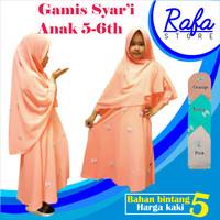 Gamis Syari Anak / Pakaian Muslim Anak Perempuan / Baju Gamis Syari