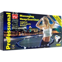 Hula Hoop Magnetik Massaging Hoop Alat Fitness Pelangsing Perut Moody