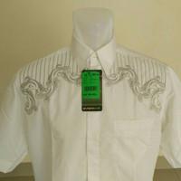 Baju koko / Kemeja Koko Al-Mia putih lengan pendek 2in1