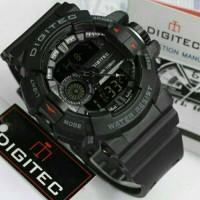 Jual Jamtangan Digitec Dual time DG-2080T Black List Red Original Murah