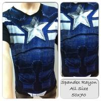 Kaos Premium Spandex Superhero Captain America SH465