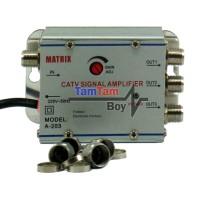 harga Penguat Sinyal Tv (catv Signal Amplifier) / Booster Indoor Dan Spliter 3 Way Matrix 20db Tokopedia.com