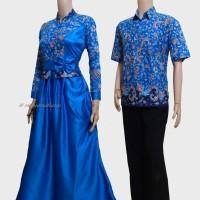 Jual Couple batik sarimbit gamis pesta baju pasangan seragam SRG 535 Murah