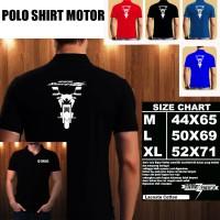 Polo Shirt Otomotif Motor YAMAHA SCORPIO Z SILUET TD/Kaos Kerah/Baju