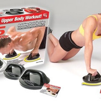Rotating Push Up Grip - Push Up Pro - The Ultimate Body Workout !!