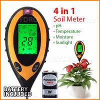 pH Meter Tanah Digital / 4 in 1 Soil Analyzer (pH, Moisture, Light, Te