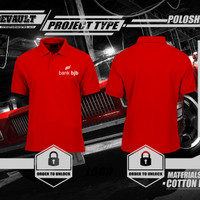 Kaos Polo Shirt Kerah - Bank BJB Logo - Kaos Pria Keren