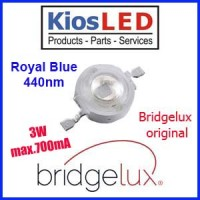 LED 3W Royal Blue Bridgelux