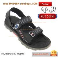 No 38 Homyped Bromo 02 Black Sandal Gunung Pria Wanita Casual Hitam