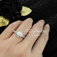 Cincin flower zircon gelang kalung anting perhiasan aksesoris real pic