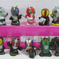 ACTION FIGURE KAMEN RIDER CHIBI SET 10 BLACK, SHADOWMOON , FAIZ CS
