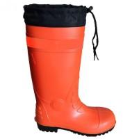 Sepatu Safety Boot Rubber Orange (L/41-42) Krisbow KW1000435