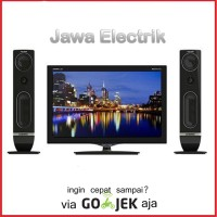 POLYTRON LED TV Cinemax 24T810 LED TV 24 Inch + Speaker Suara Mantap