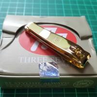 777 - Gunting Kuku Original Korea Gold / Emas ( Sedang ) N608G