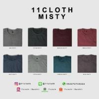 Jual (SIZE S) Kaos Polos Misty - Cotton Combed 30S 100% Murah