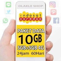 Perdana Internet / Paket Data Indosat 10GB 10 GB