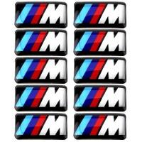 Emblem Sticker Decals silicon gel Logo BMW M Series ukuran mini