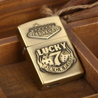 Korek Api Elektrik Besi Motif Lucky 7 - Golden