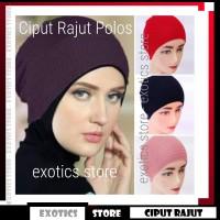 Jual Ciput Rajut Polos Inner Hijab Anti Pusing Murah